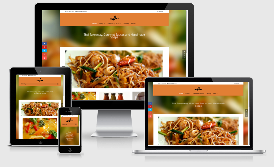 Responsive Web Design of Thai Kai