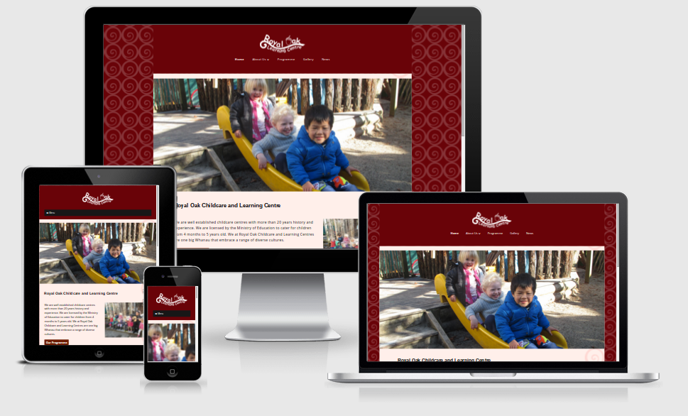 Responsive Web Design of Royal Oak Childcare